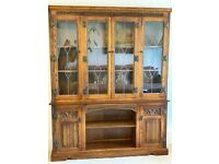 Old Charm Oak Dresser Display Sideboard Cabinet