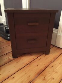 Small brown chest of drawers
