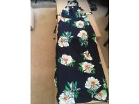 Ultra neck low back long dress brand new size 12/14
