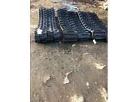 Rubber excavator tracks for diggers