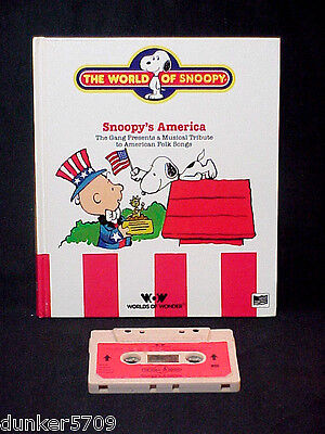 TALKING SNOOPY BOOK/TAPE SNOOPY'S AMERICA WORKS 1986 WORLDS OF WONDER