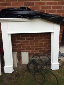 Fire place surround and plinth