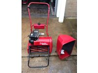 """Atco 17"""" Cylinder Petrol Lawn Mower with Grass Box - re-conditioned"""