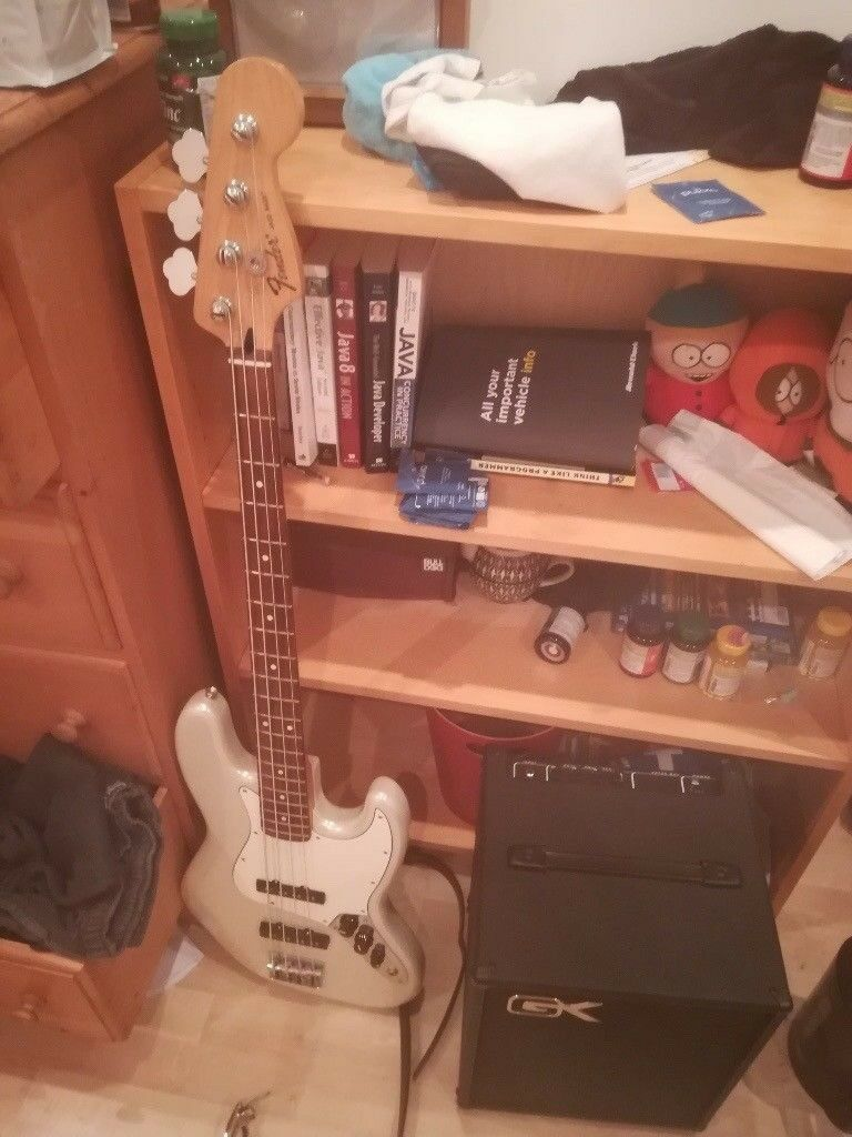 fender jazz bass and gk mb 108 100 watt amplifier in streatham london gumtree. Black Bedroom Furniture Sets. Home Design Ideas