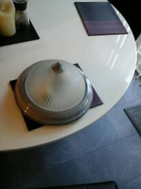 Ceiling light grey with frosted glass shade