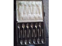 Silver plated teaspoons