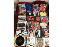Collection of vinyl records from the 60s, 70s, 80s and 90s