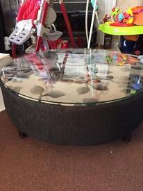 Custom DFS Coffee Table/Footstool