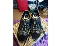 Clarks black/bronze wedge trainer size 5