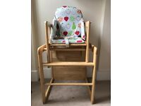 Two excellent condition, wooden John Lewis Highchairs