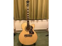 Epiphone EJ-200SCE Electro Acoustic Guitar - only 4 months old - watch youtube video