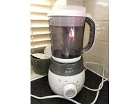 Philips Avent SCF875/01 4-in-1 Baby Food Maker Blender Steamer Rrp £140