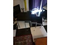 Ikea Black Nest of tables and matching Coffee table