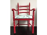 Annie Sloan Hand Painted Shabby Chic Vintage Chair