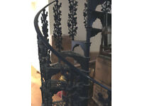 Antique Hayward Brothers CAST IRON SPIRAL STAIRCASE Ornate Reclaimed