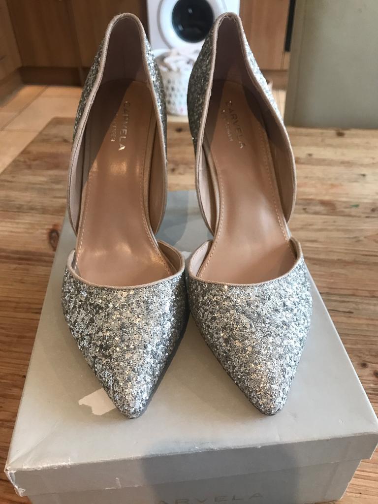 01e9b722fee Kurt Geiger Carvela Lexi Silver glitter Heels | in Peterlee, County Durham  | Gumtree
