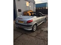 Peugeot 206 cc 2.0 SILVER DAMAGED SPARES OR REPAIRS