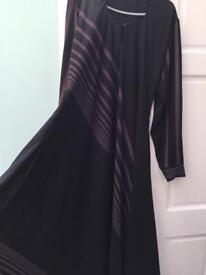 women's beautiful umbrella style abaya size 58 with scarf