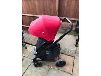 Joie chrome travel system buggy pram (not cosatto Icandy)