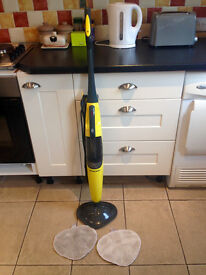 steam mop plus two mopheads