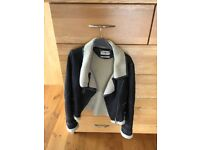 Never worn Karen Mullen aviator leather Jacket. UK10