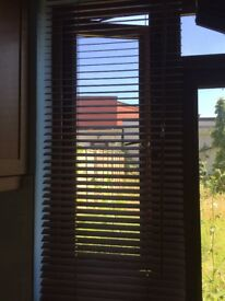 wood blinds in 2 different sizes