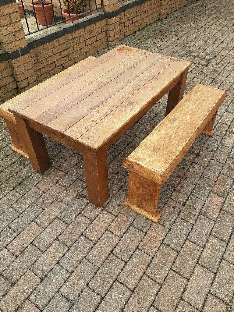 Garden table & benches   in Hull, East Yorkshire   Gumtree