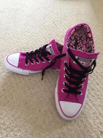 Pink converse trainers