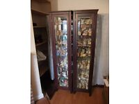 Mahogany-glass display cabinet (two available)