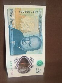 £5 note rare with rare coins