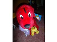 4 CLIFFORD THE BIG RED DOG TEDDIES £20 THE LOT
