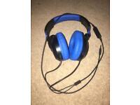Blue and Black Turtle Beach Headphones