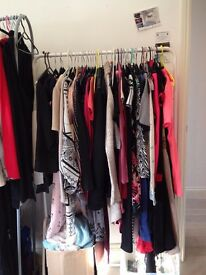 Joblot of women's clothes, shoes, books, miscellaneous items you can sell at car boot sales