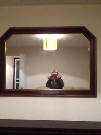 Mahogany effect mirror