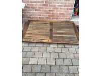 Patio wooden table