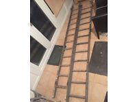 Wooden decoraters ladders x2