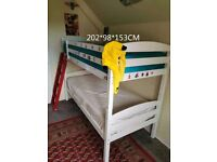 White kids bunk bed for 40 pounds
