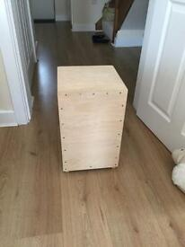 Cajon locally made with tuning strings.