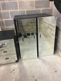 Next mirrored double wardrobe with drawers