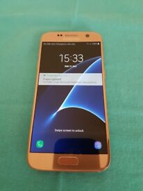 Rose Gold Samsung S7 Unlocked 32GB with Android 8.0.0 Samsung Experience 9.0 - MINT