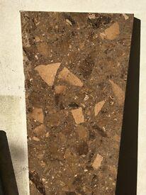 Slab of marble hearth. 390mm x 1495mm x 30mm