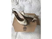 Cream/beige ladies sling back shoes by Next size 6