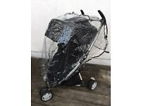 Quinny Zapp Xtra Rocking Black baby stroller with raincover and Snooze Shade