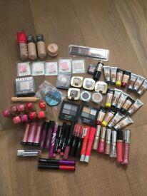 Large set of makeup, lipstick, eye shadows etc. Testers