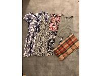Topshop bundle size 6 & 8 Dress Top scarf