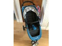 Baby Jogger City Mini Teal with accessories