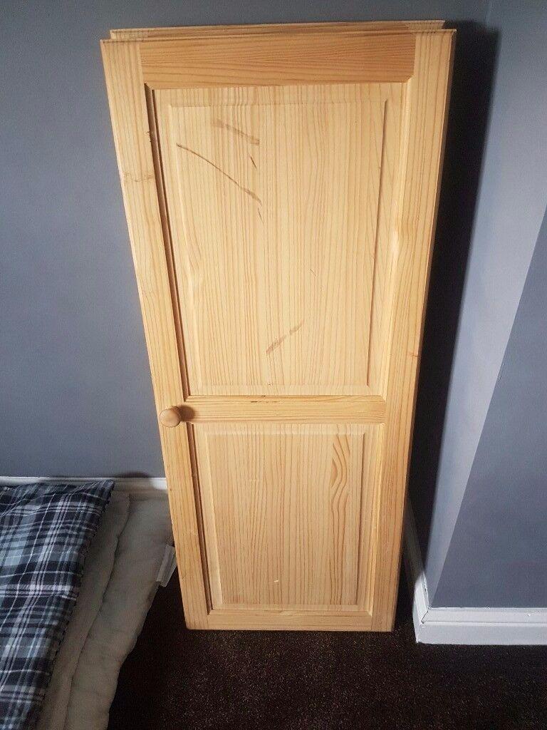 Cupboard doors pine double doors