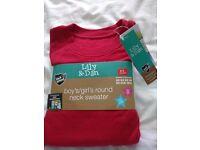 Brand new Boy's/Girl's round neck red school sweatshirt size 8-9 years