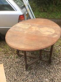 Oval folding Table