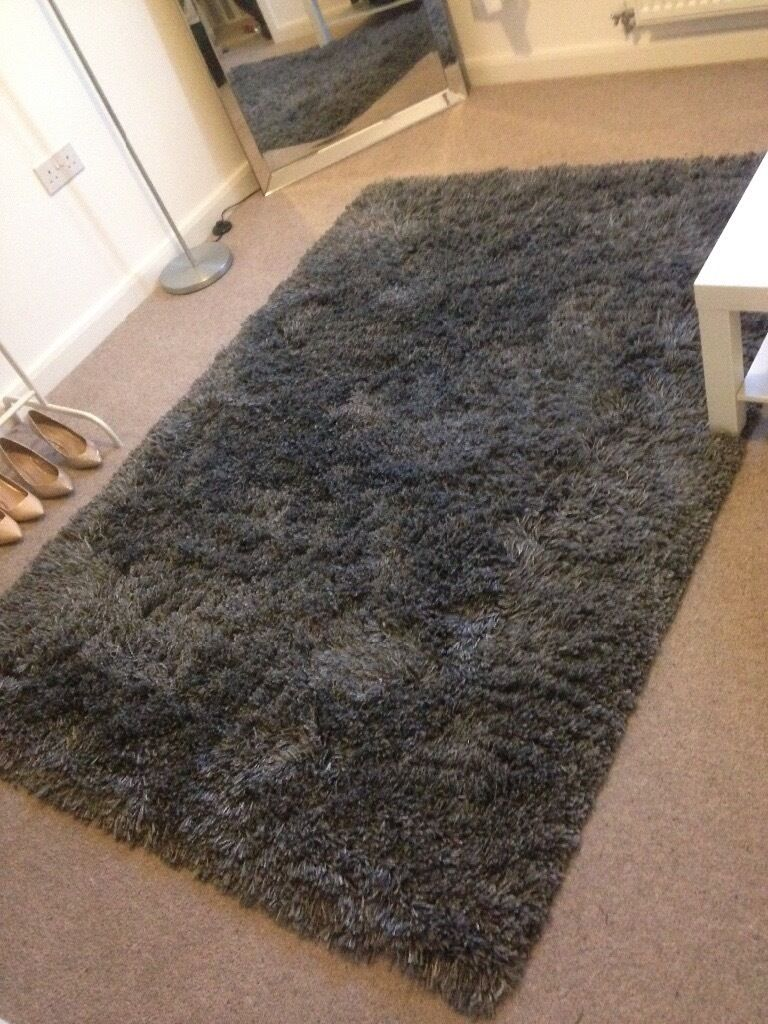 Ikea Gaser Rug High Pile Dark Grey In Telford